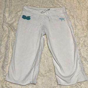 PINK Victorias Secret Cropped Sweatpants Size Med